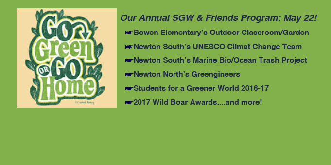 SGW & Friends: May 22 @ 7:00pm, Newton Library!